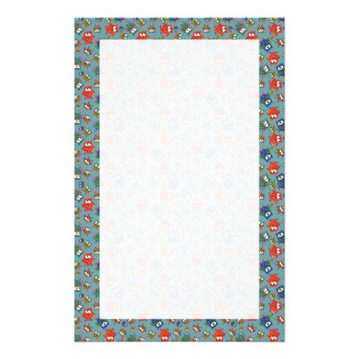 Custom Stationery, Notepaper, Cute Colorful Owls