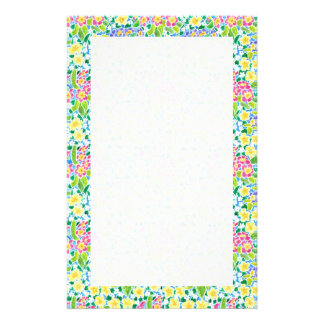 Custom Stationery, Notepaper, Pretty Primroses Stationery