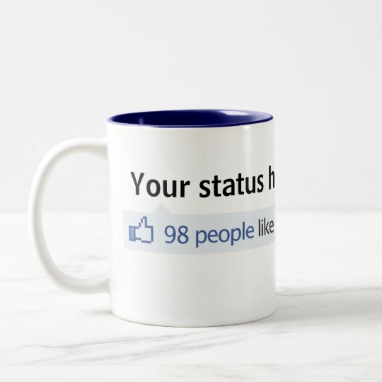 Custom Status Facebook thumbs up Two-Tone Coffee Mug