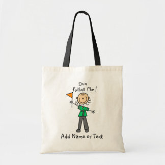 Custom Stick Figure Football Mom Bag