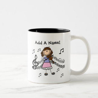 Custom Stick Figure Girl Violin Player Mug