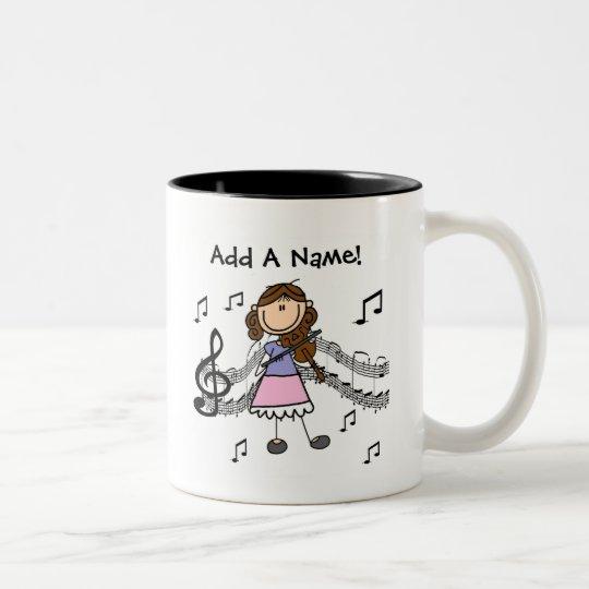 Custom Stick Figure Girl Violin Player Mug