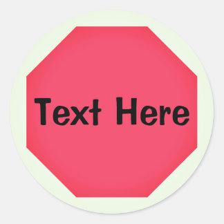 Custom Stop Sign Emoji Classic Round Sticker