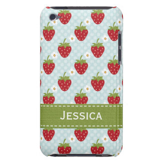 Custom Strawberry iPod Touch 4th Gen Case Blue