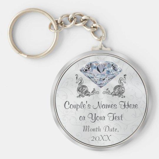 Custom Stunning yet Cheap Diamond Wedding Favours Key