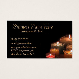 Custom Stylish Black Candles Business Cards