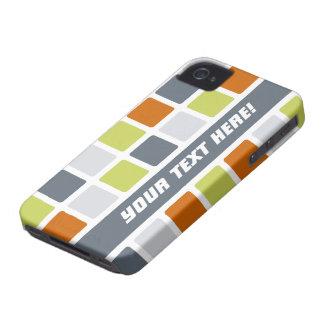 Custom Stylish Tile Pattern iPhone 4 Case-Mate