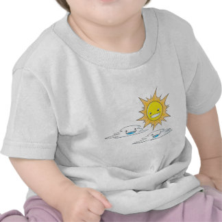 Custom Sun Clouds Fathers Day T Shirts