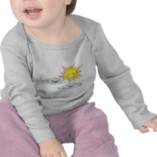 Custom Sun Clouds Fathers Day Tee Shirts