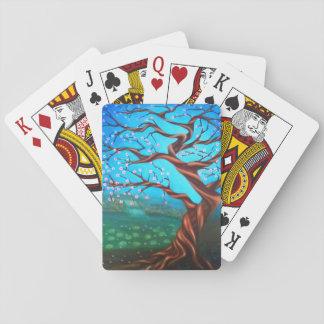 Custom Surreal Cherry Tree Playing Cards