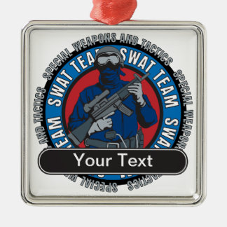 Custom SWAT Team Christmas Ornament