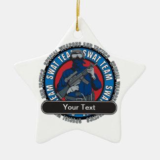 Custom SWAT Team Christmas Ornament