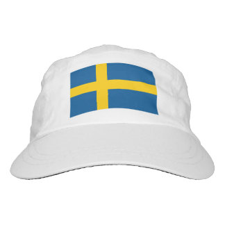 Custom Swedish flag knit and woven sports hats Hat
