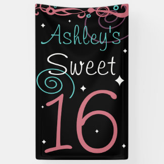 Custom Sweet 16 Photo Backdrop