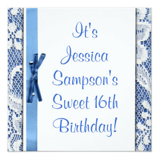 Custom Sweet 16th Birthday Cute Party Invitation