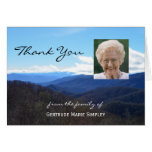 Custom Sympathy Thank You Note Card Mountains