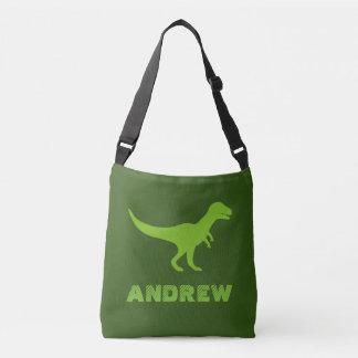 Custom t-rex dinosaur cross body bags for kids tote bag