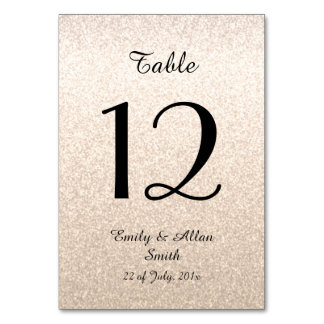 Custom Table Cards with number
