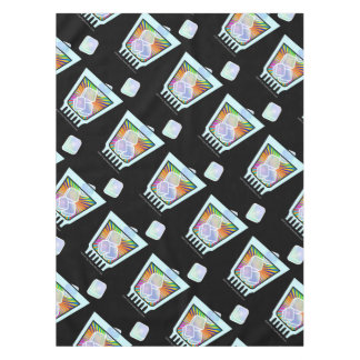 CUSTOM TABLECLOTHS - PSYCHEDELIC COCKTAIL DESIGN TABLECLOTH