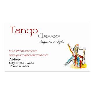 Custom Tango Classes Business card