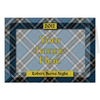 Custom Tartan Photo Frame - Burns Night Card