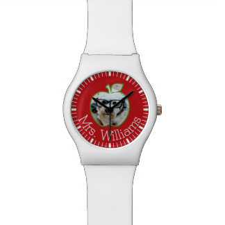 Custom Teacher Apple with Vertical Photo Watch