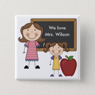 Custom Teacher Gift 15 Cm Square Badge
