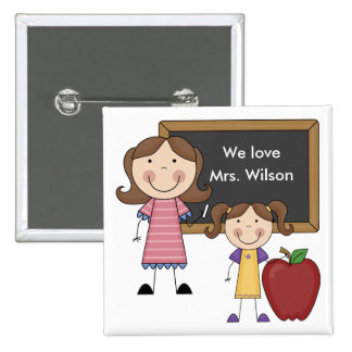 Custom Teacher Gift 15 Cm Square Badge