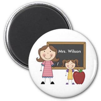 Custom Teacher Gift 6 Cm Round Magnet
