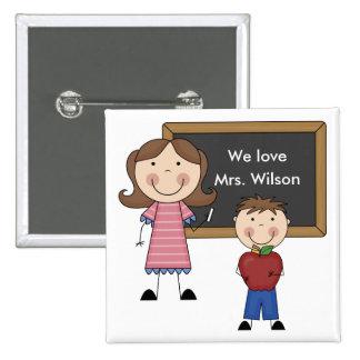 Custom Teacher Gift Buttons