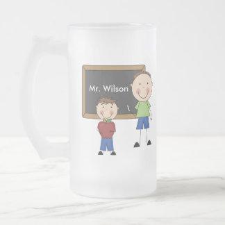 Custom Teacher Gift Frosted Glass Mug