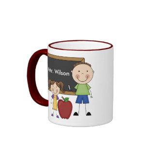 Custom Teacher Gift Ringer Mug