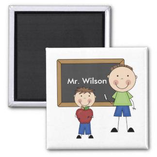 Custom Teacher Gift Square Magnet