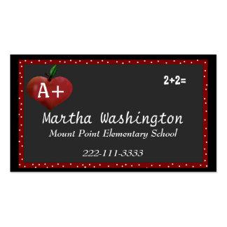 Custom Teachers Business Card