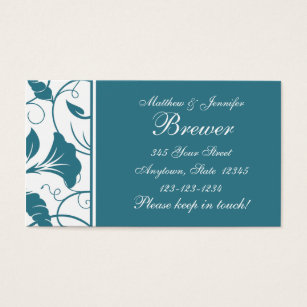 Change of address business cards business card printing zazzle uk custom teal blue change of address cards colourmoves