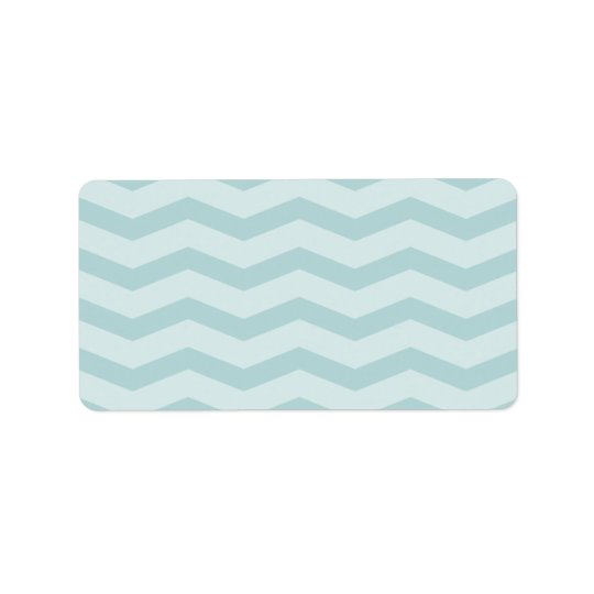 Custom teal chevron blank mailing address labels