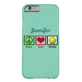 Custom Teal Tennis Barely There iPhone 6 Case