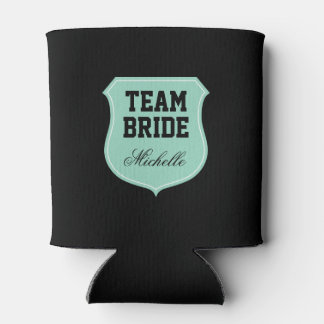 Custom Team Bride can coolers for wedding party
