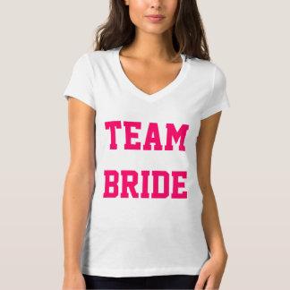 Custom Team Bride Tee Shirt with Number on Back