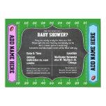 Custom Team Football Themed Baby Shower Invitation 13 Cm X 18 Cm Invitation Card