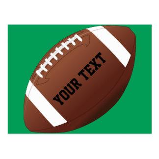 Custom Team Name / Text American Football Postcard