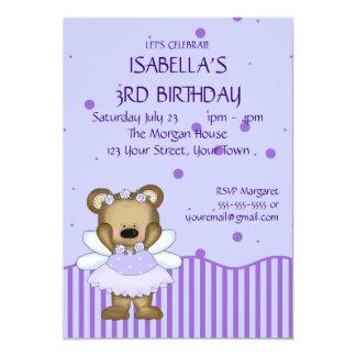 Custom Teddy Bear Blue Fairy Princess Card