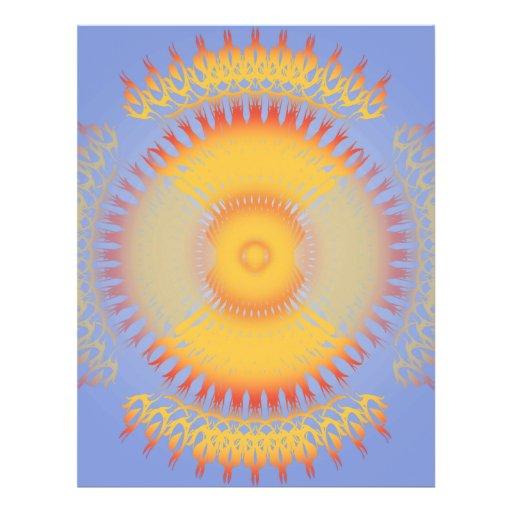 Custom Template: Orange & Yellow Radial Design Full Color Flyer