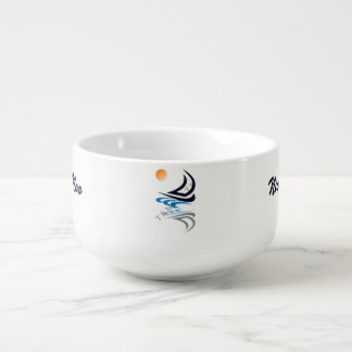 Custom Template Soup Mugs Soup Bowl With Handle