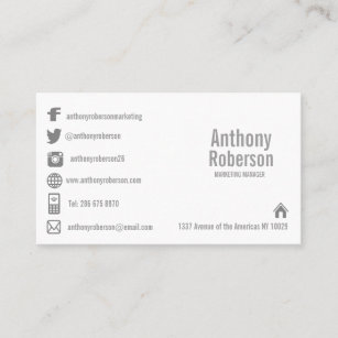 Social media business cards business card printing zazzle uk custom template with social media symbols business card accmission Choice Image