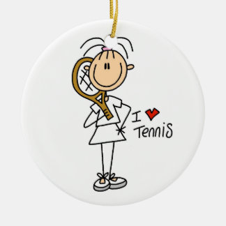 Custom Tennis Christmas Ornament
