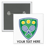 Custom tennis gift for club or tournament badges