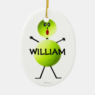 Custom Tennis Player Christmas Ornament