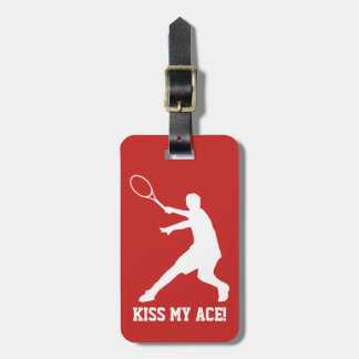 Custom tennis player gift travel luggage tag