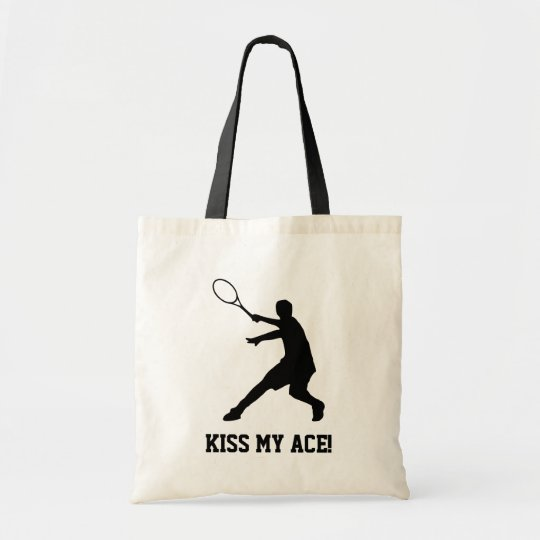 Custom tennis player tote bag with funny quote
